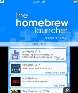 3DS Homebrew Launcher | WiiDatabase