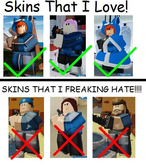 skins that i love and hate fandom