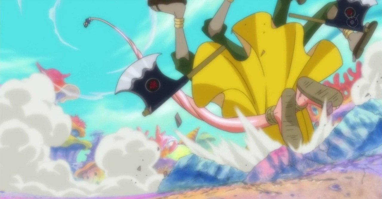 Luffy activated gear fourth for the first time during the fight against doflamingo, in episode 726. Gomu Gomu No Mi Gear Second Techniques One Piece Wiki Fandom