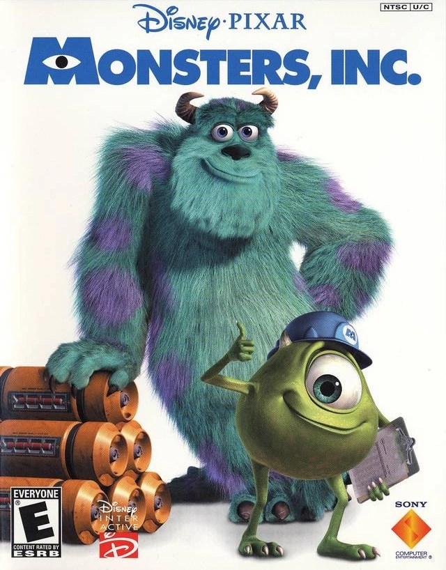 monsters inc the video game pixar