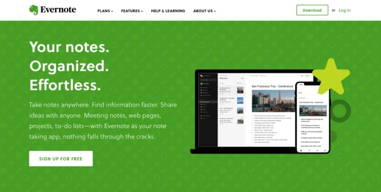 Product Value Proposition Highlighted By Evernote