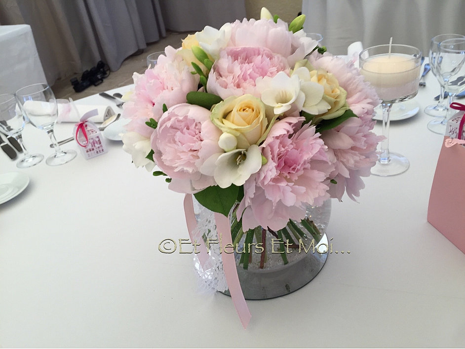 Beautiful Centre De Table Mariage Rose Poudr With Centre