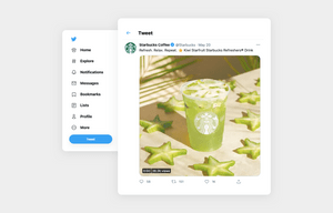 social media content ideas example by Starbucks using a gif of a tea