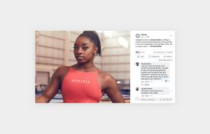 Athleta's influencer marketing social media content