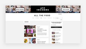 blog design all the food