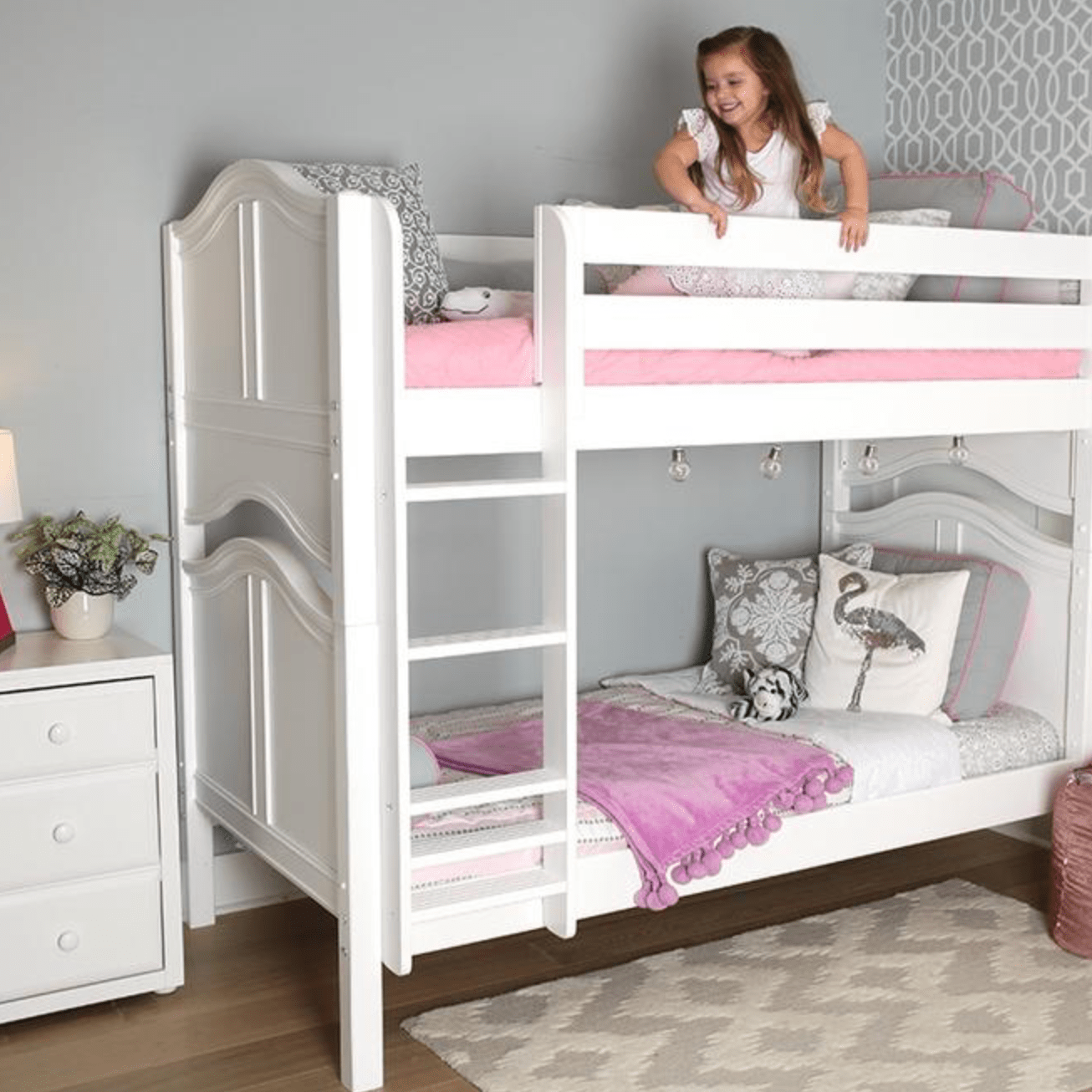 Maxtrix Low Bunk Beds With Ladder Caste Kids And Cribs