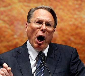 NRA convention: Wayne LaPierre 'exploits people's fears,