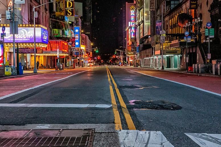 The Empty Streets of New York City   The Iridium