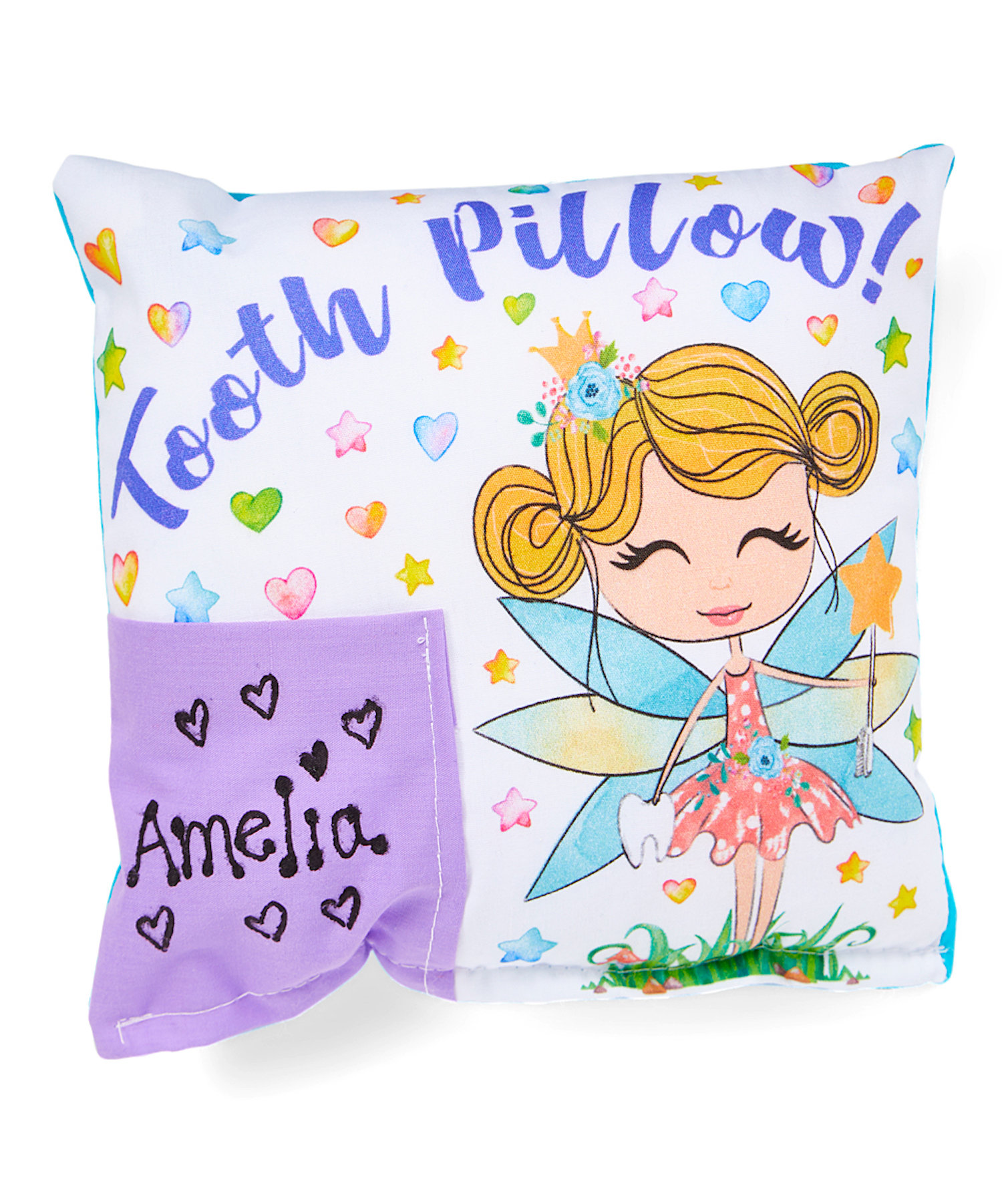 whimsy fairy personalized tooth fairy pillow bunnies bows