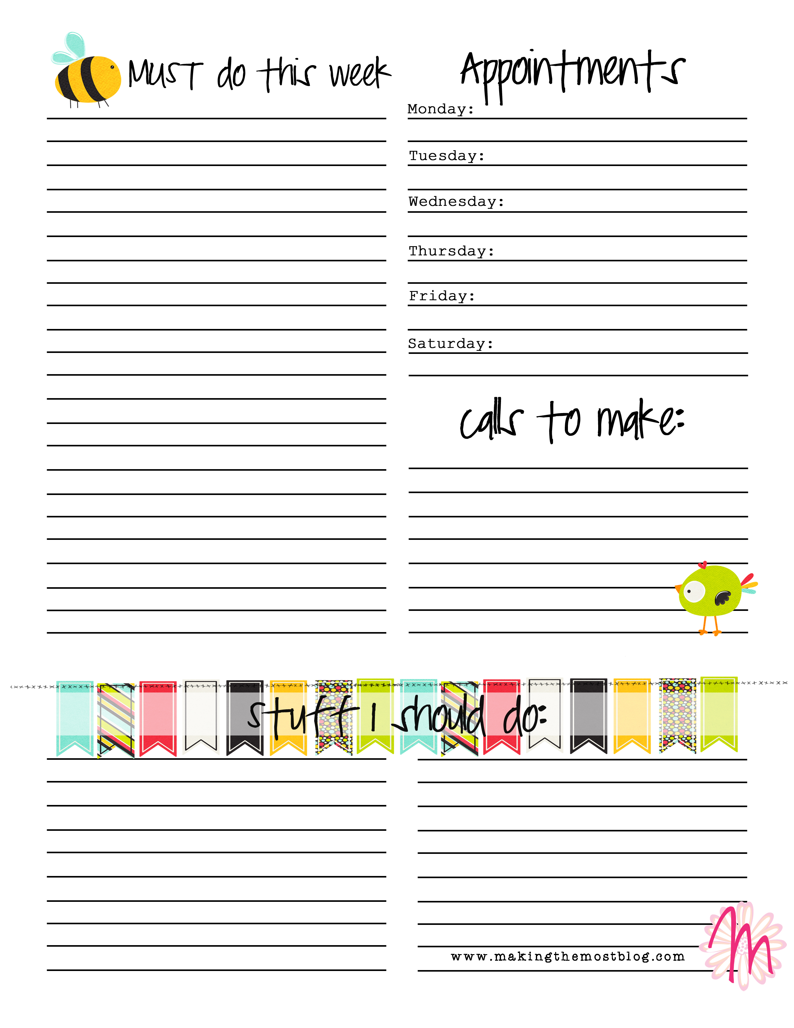 In Keeping With Goal Setting Free Printable