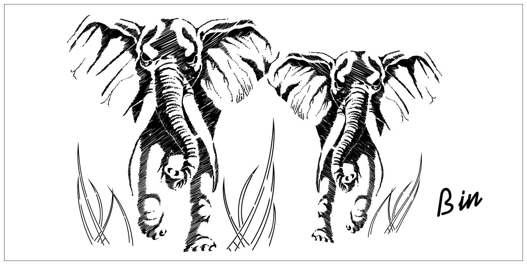 Gravure Elephant 1