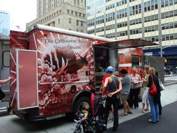 vegan food street truck selling plant based street food