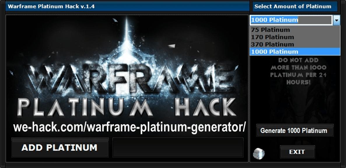 Warframe Platinum Hack No Survey Free Platinum 100 Safe