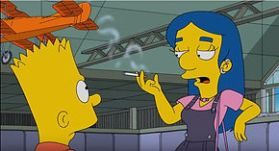 Vaping in TV Shows - The Simpsons