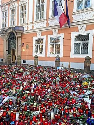 Prague, Prague Perception- Pray for Paris