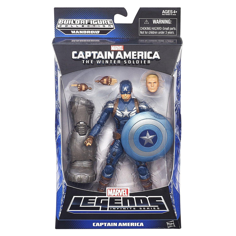 marvel legends captain america mandroid series captain america stealth  strike | toyhideout