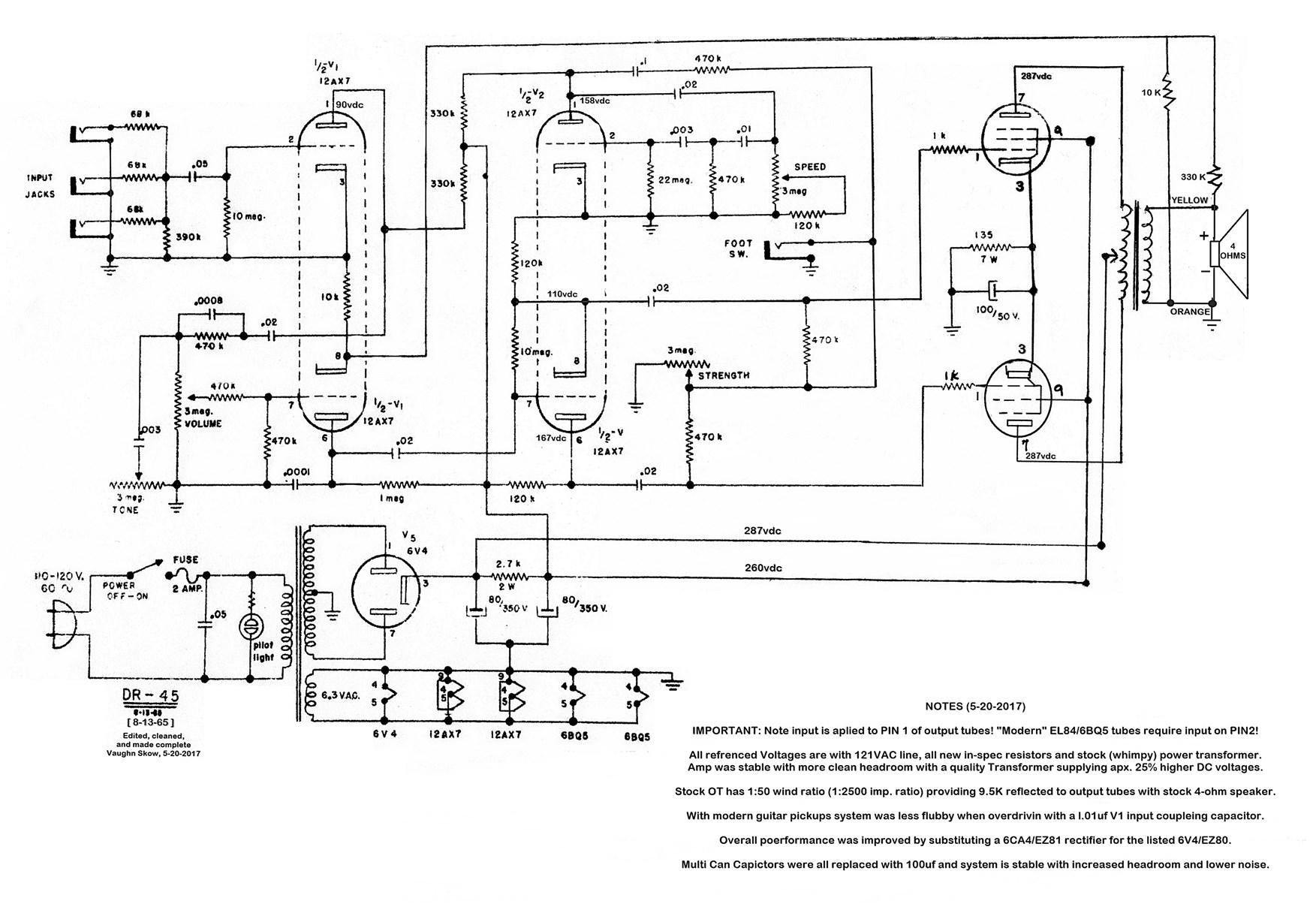 Vintage Kent Dr45 Tube Amp