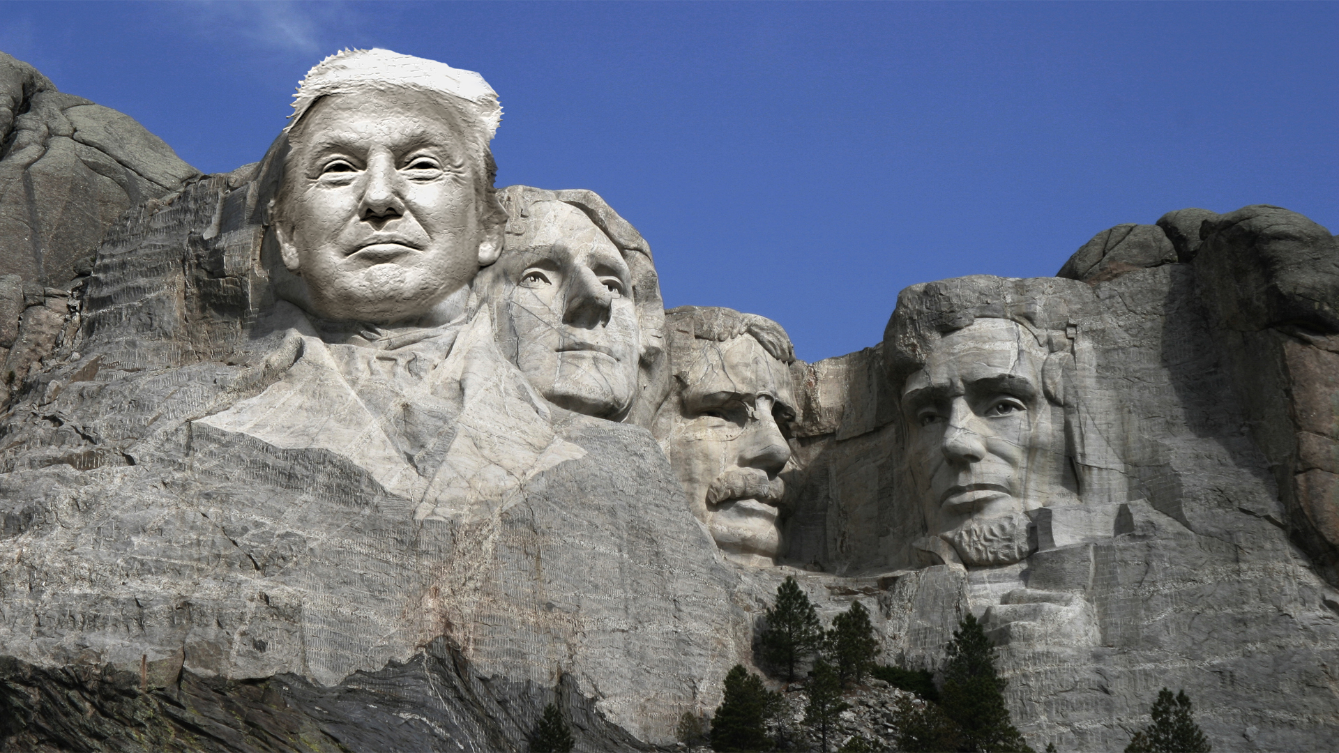 Trump On Mt Rushmore