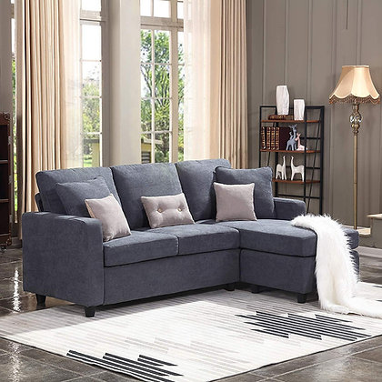 Honbay Convertible Sectional Sofa Couch L Shaped Comfy