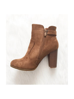 All On The Line Tan Suede Boot