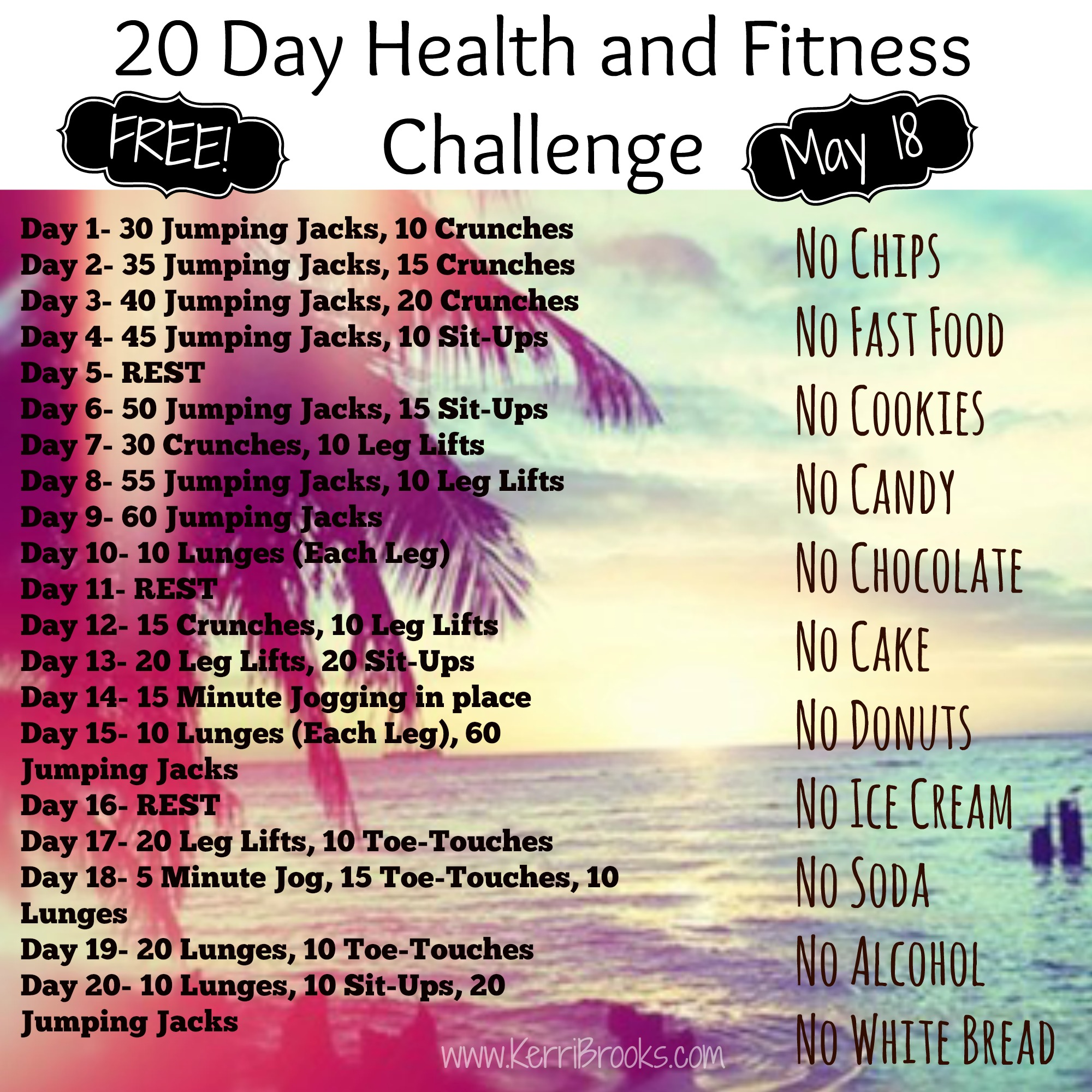 Take Back Control 20 Day Challenge