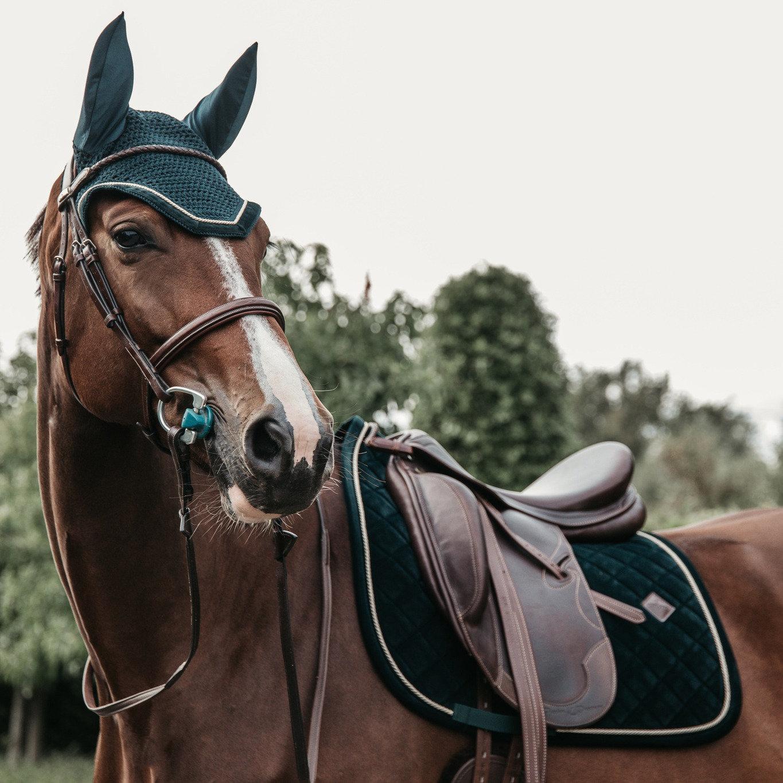 tapis de selle corduroy vert kentucky horsewear demivolte