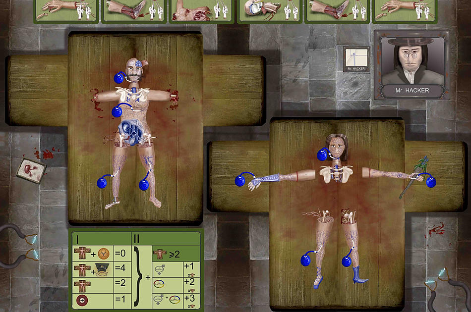 Frankenstein's Bodies, card board game, horror, boardgamegeek
