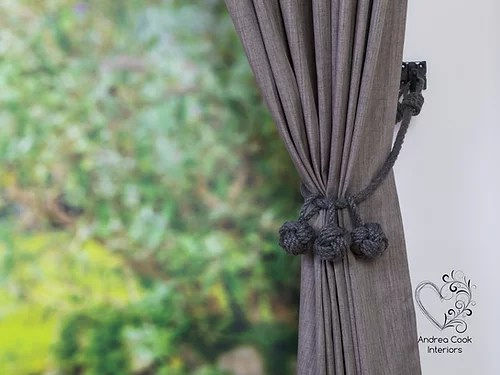 medium ivory white monkey fist knot tie