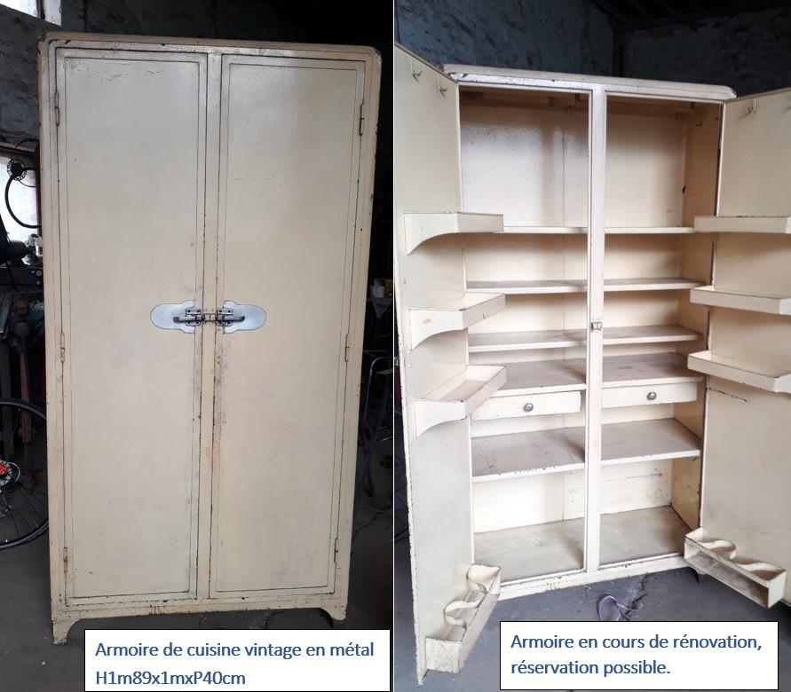armoire vintage en metal