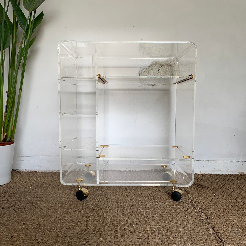 porte revue plexiglass meuble tv