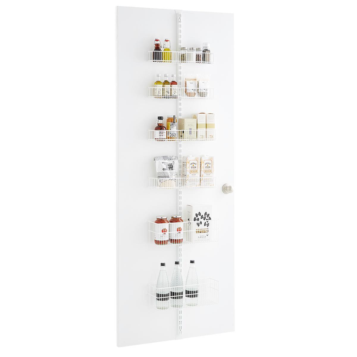 elfa white 80 over the door rack solution mysite