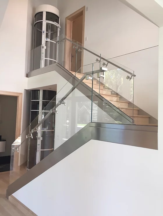 Glass Staircase Glass Railing Baron Glass Denver Co | Spiral Staircase With Glass Railing | Exterior | In India Staircase | Stair Wood Bracket | Glass Insert | Inside Glass