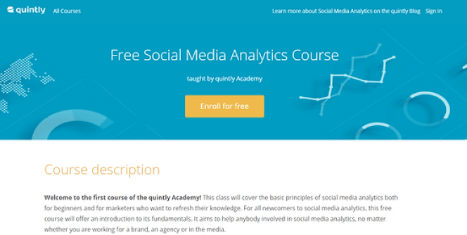 Quintly's Social Media Analytics Course