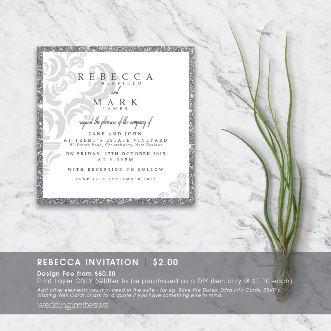 Rebecca Wedding Invites Wa Invitations In Perth