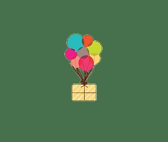 Jessie's Party Stop Balloon Logo