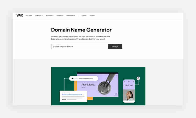 Use a domain name generator to find the best online address for your website