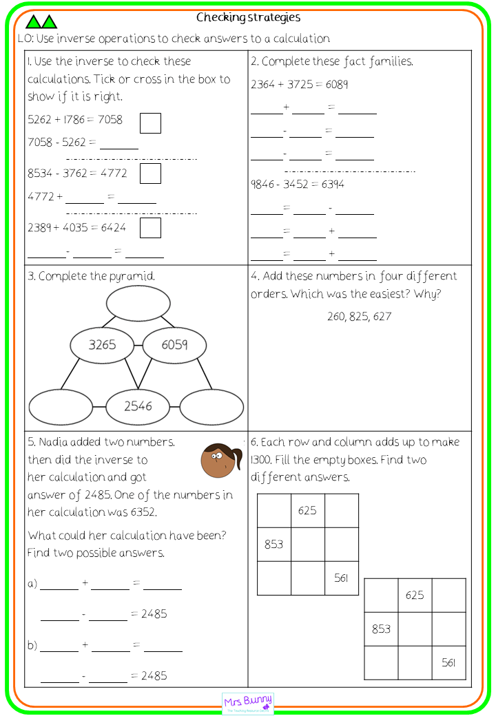 Checking Strategies Lesson Pack Year 4 Addition And