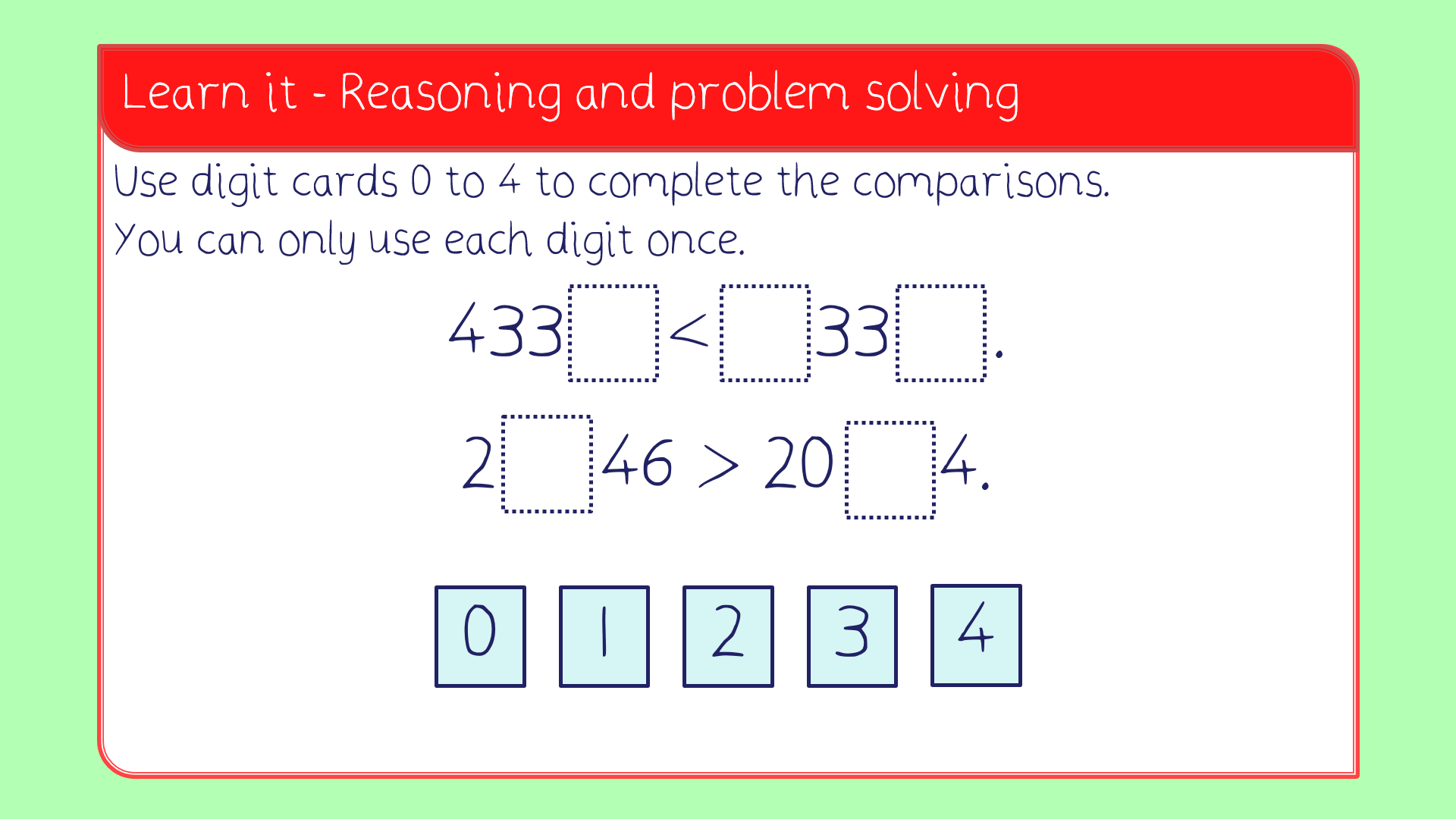 Compare 4 Digit Numbers Lesson Pack Year 4 Number And