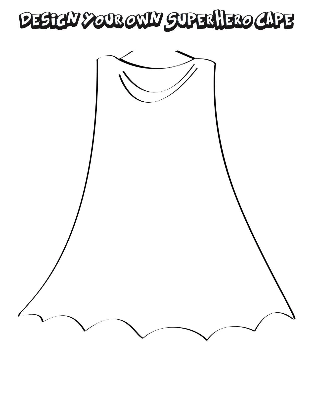 Design Your Own Super Hero Cape