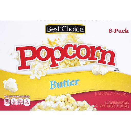 bc butter flavor microwave popcorn 6 ct jtc distribution