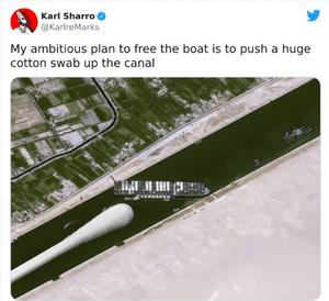 Suez Canal Q-Tip Meme