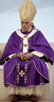 Image result for purple gold pope