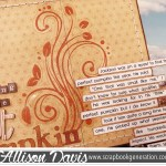 Using 6x6 Paper Pads On Full Size Scrapbook Layouts