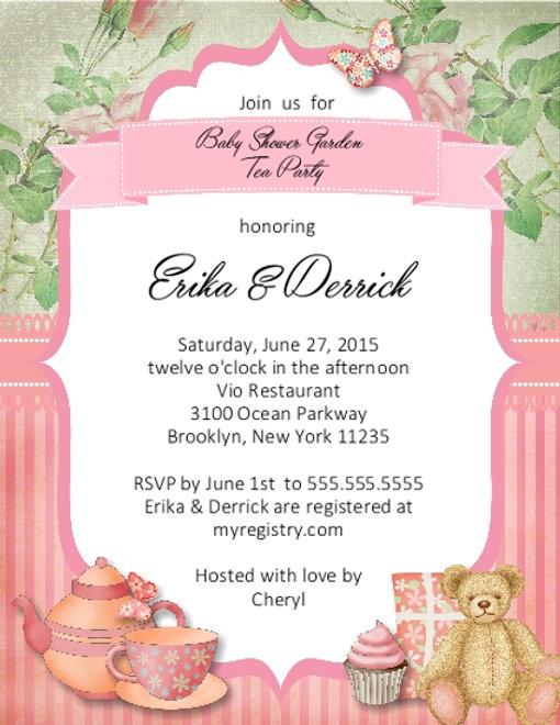 5 Tea Party Baby Shower Invitation