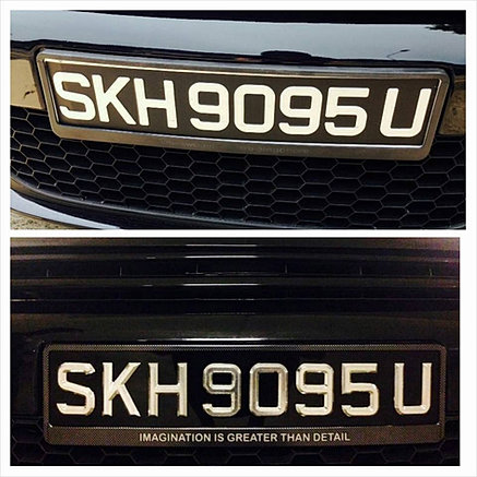 No 1 Car Licence Plate Maker In Singapore Laser Cut Type