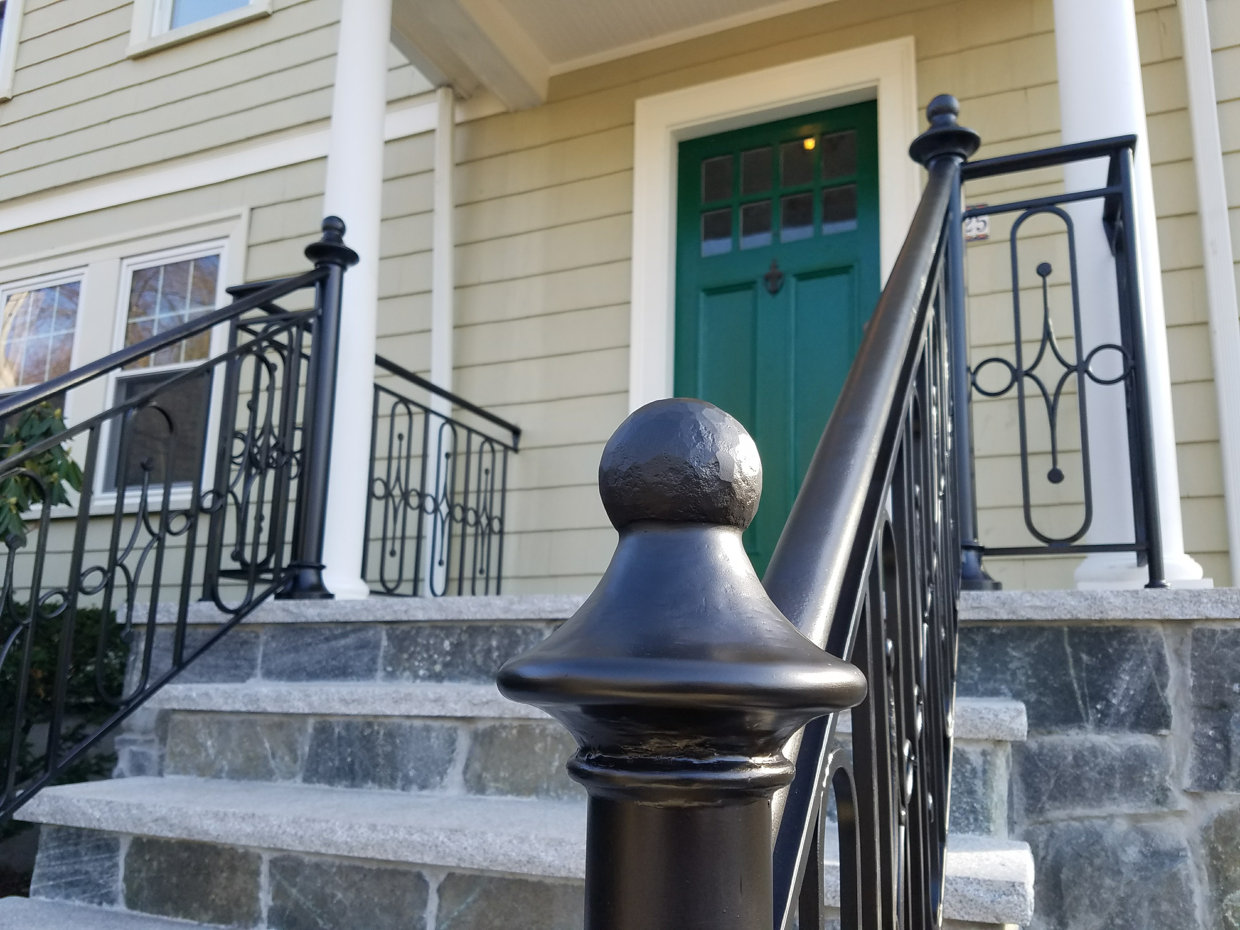 Custom Wrought Iron Railings Morrell Metalsmiths | Metal Railing Designs Stairs | Rot Iron Staircase | Step | Luxury | Creative Outdoor Stair | Curved Railing