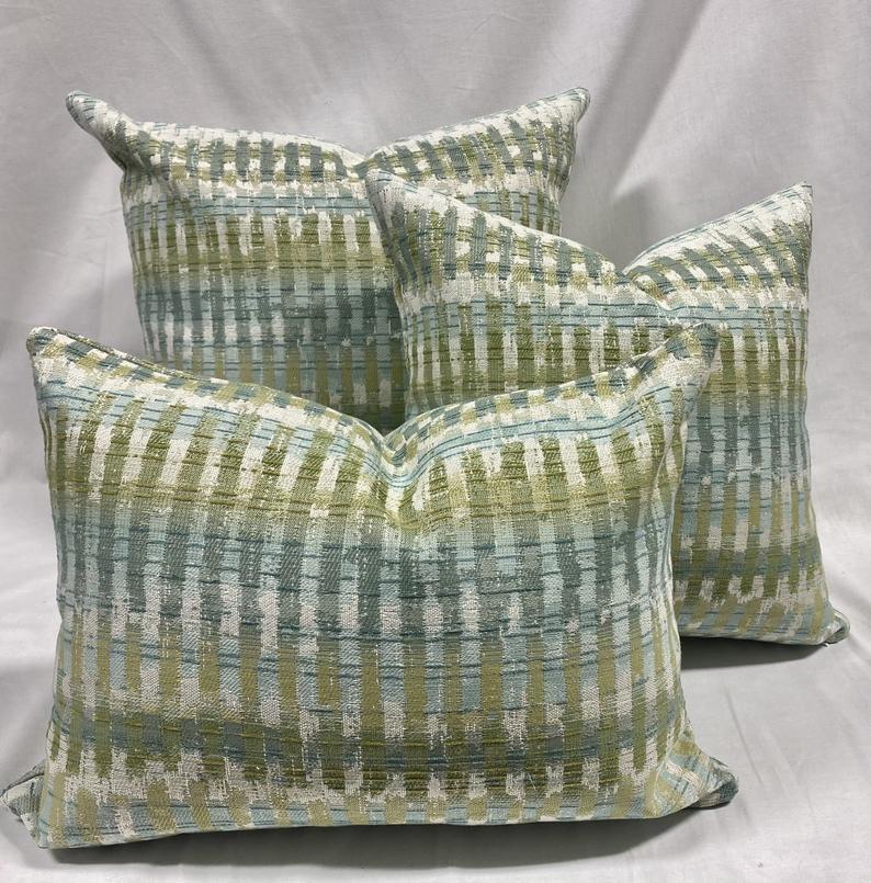 seaglass pillow covers blue green multicolor pillow covers coastal s shopmyfabrics