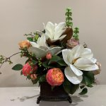 Magnolia And Peony Arrangement Delightfully Differe