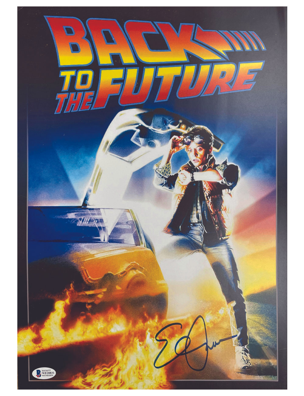 back to the future poster signed by elisabeth shue action force toys