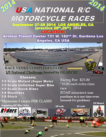 2014 USA Nationals Race Flyer